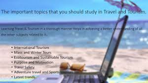 travel and tourism travel and tourism