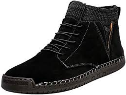 MENGQIN <b>Influx</b> Male Retro Combat Boots Suede <b>Men's</b> Casual ...