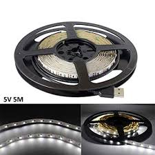 Amazon.com: USB <b>LED Strip</b> Light White <b>5V</b> 5M 300 SMD 3528 with ...