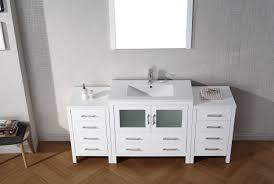 gray peel and stick wallpaper with mirror vanity
