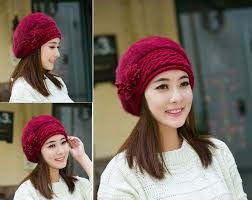 2020 <b>Hot Sale Women Hat</b> Flower Beret Fashion Faux Fur Beanie ...
