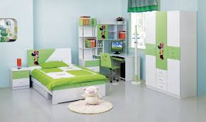 sweet green white kids bedroom furniture sets feats with light blue wall paint ideas and stained blue kids furniture wall