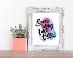 good things take time quote office cubicle decor ideas office decor for work new college student decor motivational work desk decor band office cubicle