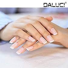 DALUCI® <b>24 Pcs</b>/<b>set</b> French Nails Nail Art Pre-design <b>Acrylic Fake</b> ...