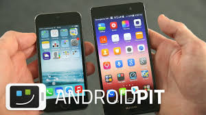 Comparatif : Huawei Ascend P7 vs Apple iPhone 5s - YouTube