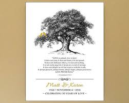 50th <b>Wedding Anniversary</b> Gift with 1 Corinthians 13 - <b>Personalized</b> ...