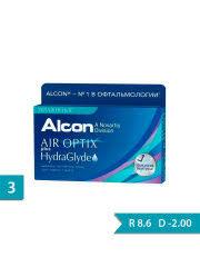 <b>Контактные линзы Alcon</b> Air Optix HydraGlyde (3) <b>Ежемесячные</b> ...