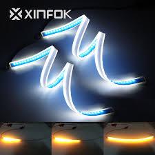 <b>2PCS 60CM</b> Ultrafine <b>DRL</b> Flexible LED Tube Style <b>Daytime</b> ...