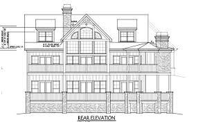 Rustic Mountain House Floor Plan   Walkout Basementmountain home house plan rivers reach rear elevation