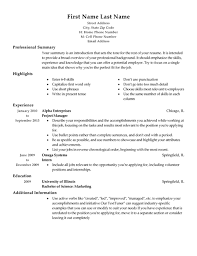 project managers osujei free traditional resume templates