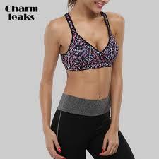 <b>Charmleaks Women</b> Sports Bra <b>Medium Impact</b> Floral Print ...