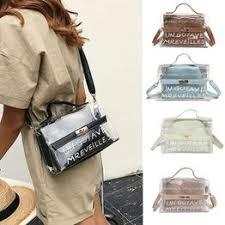 1 fashion women's PVC transparent shoulder bag handbag ... - Vova