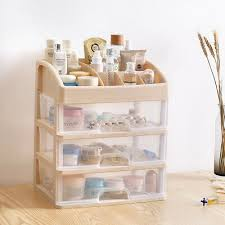 <b>1 pc Cosmetics Storage</b> Box <b>Drawer</b> Type Desktop <b>Plastic</b> Stylish ...
