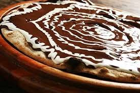 Resultat d'imatges de pizza de chocolate