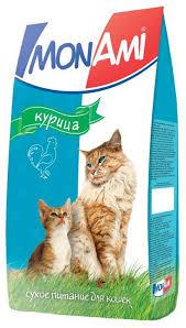 """Корм сухой """"<b>Mon Ami"""" для взрослых</b> кошек, с курицей, 10 кг 14195 ..."""