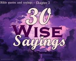 Image result for images 30 sayings to the wise