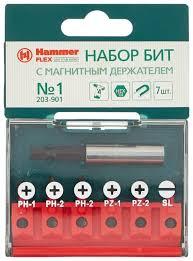 <b>Бита</b> Hammerflex <b>203-901</b> No1 (7 шт) — купить по выгодной цене ...