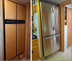 replacement kitchen doors defaultasp  and after pictures of a refrigerator upgrade i helped on for my frien