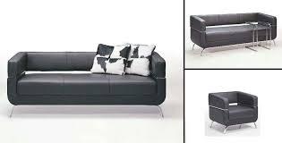 f51 contemporary black leather sofa set black sofa set office