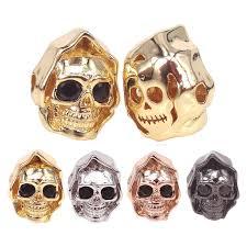 CZ проложить демонический череп металлические бусины ...