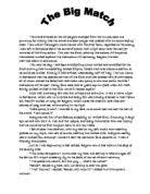 english descriptive essay  the match   gcse english   marked by  related gcse writing to inform explain and describe essays