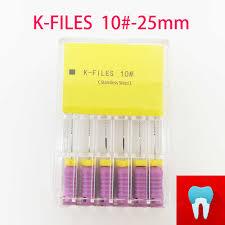 <b>6pcs</b>/<b>pack</b> 10# <b>25mm Dental K</b> Files Root Canal Endo Files <b>Dentist</b> ...