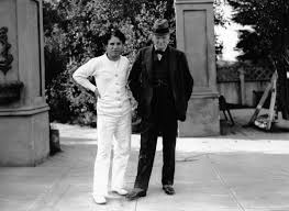 charlie chaplin and winston churchill on the set of city lights charlie chaplin and winston churchill on the set of city lights 1931