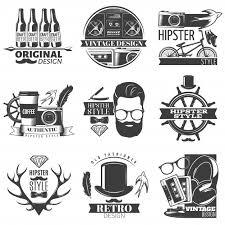 Free Vector | Black <b>hipster</b> emblem set with descriptions of <b>original</b> ...