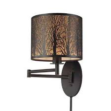 woodland sunrise 1 light oil rubbed bronze swing arm light bronze sweep wall swing