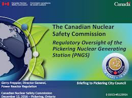 presentations canadian nuclear safety commission presentation by gerry frappier to pickering city council
