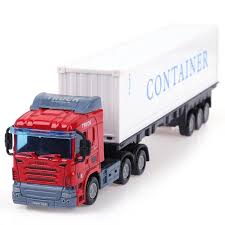 1:43 Alloy <b>Construction</b> Vehicle Model <b>Simulation</b> Container Truck ...