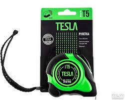 <b>Рулетка Tesla T-5 5м,25мм</b>, нейлоновое покрытие, магнит ...