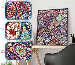 SaShiko DIY <b>Special 5D Diamond Embroidery</b> Mandala Sun Pattern ...