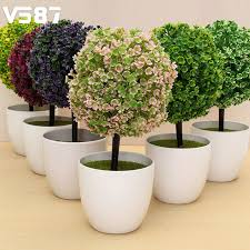 fake bonsai for garden home mini artificial topiary tree ball plant flowers buxus plants in pot artificial topiary tree ball plants pot garden