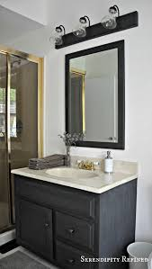 update bathroom mirror: how to update oak and brass bathroom fixtures with spray paint and