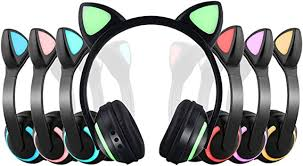 Wireless Bluetooth Cat Ear Headphone with 7 Colors ... - Amazon.com
