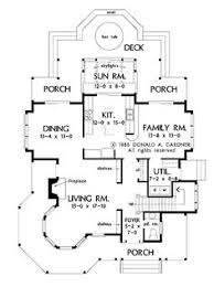 images about house plans on Pinterest   Floor plans  House    Kitchen Opens to a Sun Room  HWBDO     Queen Anne House Plan from BuilderHousePlans