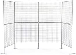Displays2go Art Display <b>Grids</b>, Floor Standing, Double Sided, <b>Metal</b>