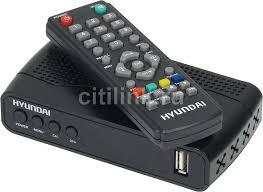 Обзор товара ресивер <b>DVB</b>-<b>T2 HYUNDAI H</b>-<b>DVB500</b>, черный ...