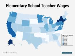 elementary school teacher salary map business insider