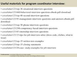 top program coordinator cover letter samples  12 useful materials for program coordinator