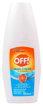Купить Спрей <b>OFF</b>! Аква-<b>спрей от комаров</b> 100 мл по низкой цене ...