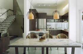 marble top table design feat unique hanging pendant lamp in modern dining room plus picture of amazing hanging dining room