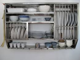 dishy kitchen counter decorating ideas:  elegant kitchen use the long lasting stainless steel kitchen shelves and kitchen shelving