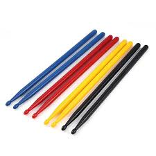 <b>1 Pair colorful</b> Drumsticks Nylon Drum Stick Percussion Instruments ...
