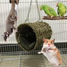 Pet <b>Woven</b> Straw <b>House</b> Hamster Nest Hand <b>weaved</b> Grass <b>Cottage</b> ...