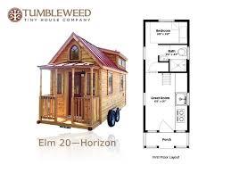 Plans   Tiny House Pins Sq  Ft  NO Loft Tiny Home  Tumbleweed Elm Horizon