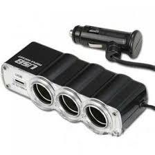 АВТОТОВАРЫ - <b>Разветвитель прикуривателя на 3</b> гнезда с USB ...