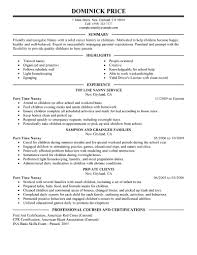 babysitting on resume babysitter how to put babysitting part time gallery of babysitter resumes