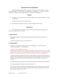 subcontractor short form contract contractor and employee subcontractor short form contract contractor and employee subcontractor agreement form